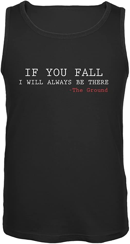 Old Glory If You Fall I Will Always Be There Black Adult Tank Top