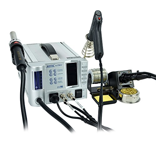 Aoyue 2703A+ SMD Professional Repair & Rework Station With Hot Air, Soldering Iron and a Desoldering Tool