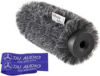 Rycote 18cm Classic-Softie (19/22) for Sennheiser MKE600 Shotgun Mic with (2) TAI Audio Cable Straps