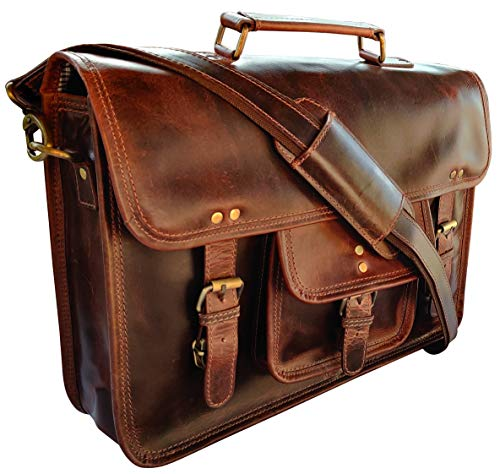 Rustic Town 15 inch Leather Laptop Messenger Bag...