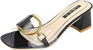 [OVERMAL] サンダル レディース スリッパ 透明 就職 通勤通学 フラット フラットヒール 歩きやすい 滑りにくい 美脚 上品 おしゃれ 大きいサイズ 靴 ガールズ 女性用 夏
