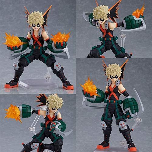SUANNAI Figura de Anime My Hero Academia Anime Figuras Bakugou Katsuki PVC Toys Action Movible Boku No Hero Academia Estatuilla Colección Modelo Muñeca