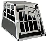 Carparts-Online Alu Hunde Tier Reise Auto Transportbox mit Tür XL 69x50x54cm