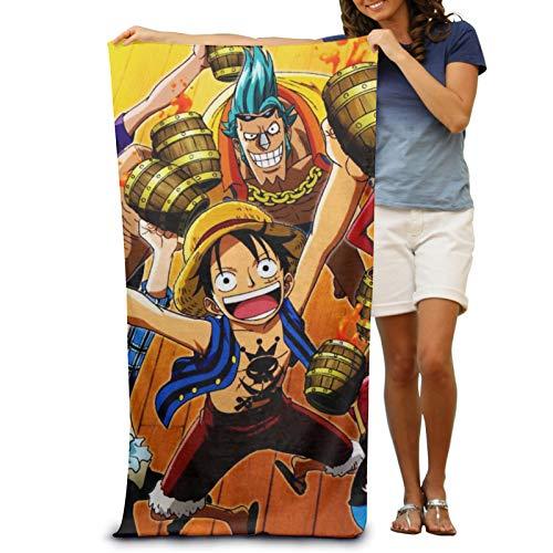 Anime One Piece Monkey D. Luffy Toallas de playa para adultos, 100% poliéster, superfina, ultra suave, fibra superabsorbente, perfectas para el hogar, baño, playa, piscina, 137 x 76 cm
