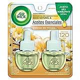 Air Wick® 2 Repuestos de Aromatizante de Ambiente Continuo para Aparato Difusor eléctrico, Aroma Delicias de Vainilla, 20 ml c/u