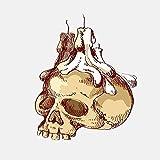 Liafa 12.8 Cm X 15.6 Cm Car Styling Cranio Candeliere Casco Moto Adesivo Per Auto Adesivo 2 Pezzi Lo Stripping Autoadesivo E Facile Può Lavorare Su Una Superficie Pulita E Asciutta