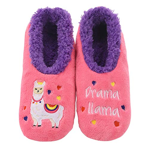 Snoozies Pairables Womens Slippers - House Slippers - Drama Llama - Medium