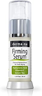 Hyaluronic Acid Serum for Face [1.25 fl oz] – Organic Hyaluronic and Vitamin C Serum Face Moisturizer w/Vitamin E, Green Tea and Jojoba Oil – Powerful Anti-Aging Hydration and Collagen Activation