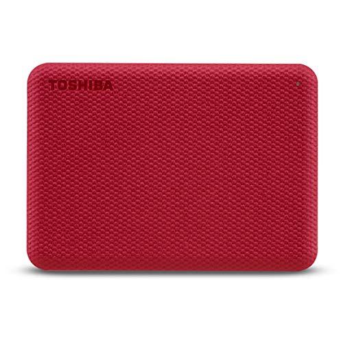 """Toshiba Canvio Advance - Hard disk da 4 TB, 2,5"""", colore: Rosso"""
