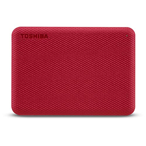 Toshiba Canvio Advance - Disco Duro (2 TB, 2,5), Color Rojo
