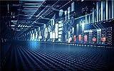 Glorious.Q Technologietunnel Fototapete Wand Fotoscience-Fiction-Hintergrund Tapeten, Hochauflösendes Wand-Bild, Poster Fotoposter Wand-Deko Bild 460(W) X 280(H) cm