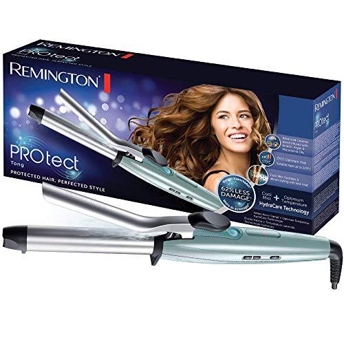 Remington CI8725 PROtect - Moldeador, hasta 220º C, calentamiento en 15 segundos, pantalla digital integrada con cinco ajustes, tecnología HydraCare