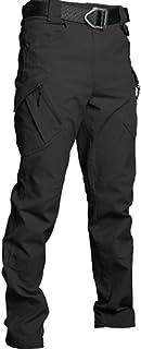 HOSD Pantalones tácticos Hombres Pantalones de algodón Flexibles elásticos de Talla Grande Muchos Bolsillos con Cremallera...