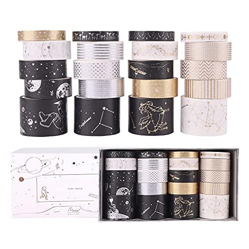 20 Rollos Cintas Adhesivas Washi Tape, Cinta Adhesiva Decorativa Diseño de estilo...