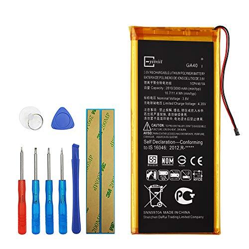 Upplus GA40 Batería de repuesto compatible con Motorola Moto G4 Plus XT1640 XT1641 XT1642 XT1643 con kit de herramientas