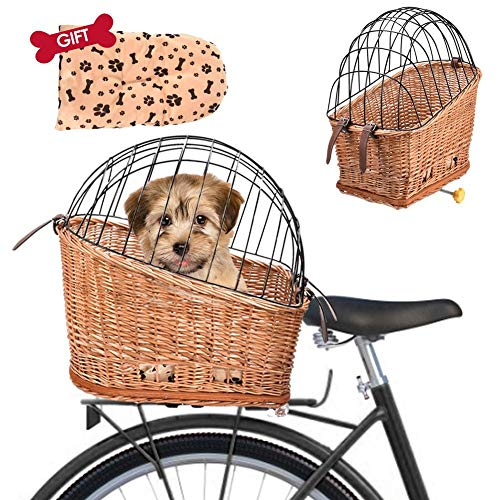 iFlymisi Handy, Comfortable Bicycle Basket With Protective Wire - Safe Mounting On The Bicycle Luggage Rack For E-bikes - Max. Dog's Weight: 10kg