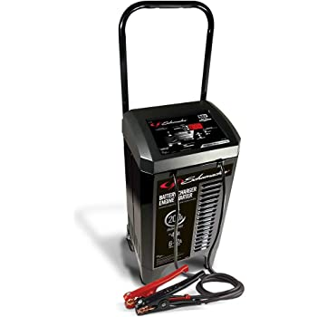 Schumacher SC1309 6/12V Wheeled Automatic Battery Charger and 40/200A Engine Starter with Advanced Diagnostic Testing