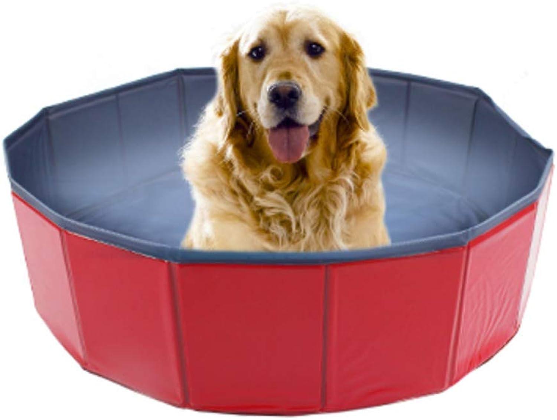 DjfLight Pet Swimming Pool Water Pond, Wash Tub Pet Dog Shower Bathing Bathtub, Outdoor Indoor Folding Basin for Small Medium Dogs Cats Paddling Tool,S
