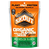 SKOUT Organic Roasted Pumpkin Seeds - Mountain Ranch - Pepitas With No Shell - Vegan, Low Carb Snacks - Paleo Foods - Gluten Free - Non-GMO - Kosher - Grown in USA - 2.2 oz (6 Count)