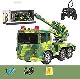 Mopoq 01:24 del cañón del juguete grande Súper Misil de control remoto de coches de niños puede lanzar de carga móvil del modelo del tanque militar Boy coche 6-12 Años de Edad regalo de cumpleaños