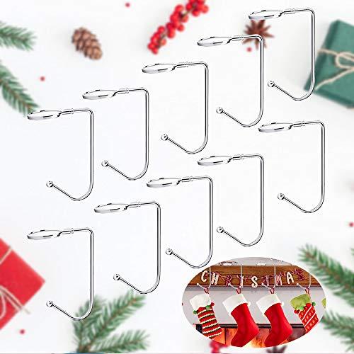 LattCURE - 10 ganci per calza di Natale, per decorazioni natalizie e borse da appendere