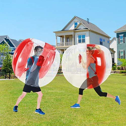 SUNSHINEMALL Bumper Ball, Inflatable Body Bubble Ball Sumo Bumper Bopper Toys, Heavy Duty Durable...