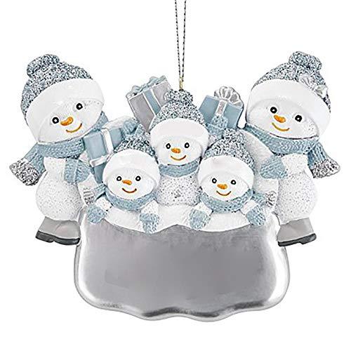 SUPERHUA 2020 decoración navideña de cuarentena Diy personalizado muñeco de nieve árbol de Navidad colgante adorno colgante