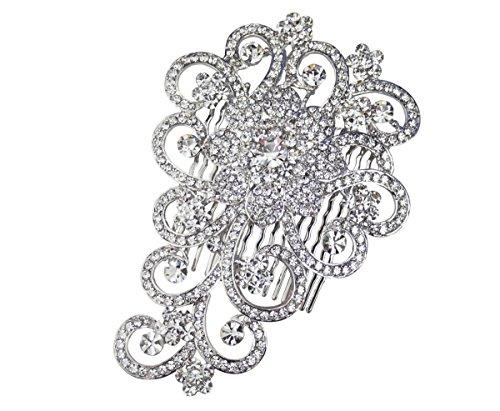 Orla Floral Brautschmuck Kamm Hochzeit Haar Accessory–Silber
