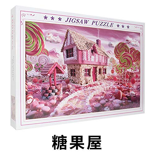 Handgemachtes Stück Erwachsenen Dekompression Cartoon Geschenk Kinderspielzeug Super schwieriges Papier Puzzle Landschaft Large-Candy Hut-D7V 1000 Tabletten rahmenlos