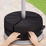 Pie de sombrilla - Bolsa de peso base para paraguas de 46 x 46 x 50 cm, soporte de paraguas de 3 pulgadas, relleno con máximo 85 libras de arena, tejido Oxford 600D, cerradura de PVC