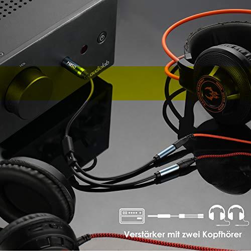 MillSO 1/4 Macho a 2 x 3,5 mm 1/8 Adaptador de Auriculares Hembra, Divisor de Audio estéreo TRS para amplificadores, Amplificador de Guitarra, Teclado Piano, Cine en casa, Mezclador