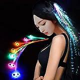12 Stück LED Glasfaser Beleuchtung Leuchtende Haarspangen Haarschmuck für Weihnachten Fasching...