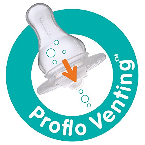 Evenflo Feeding Glass Premium Proflo Vented Plus Bottles for Baby, Infant and Newborn - Helps Reduce Colic - Lavender, 4 Ounce (Pack of 6)