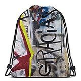 Abstrait iti Wall Art Photography - Gracias Sport Bag Gym Sack Drawstring Backpack for Gym Shopping