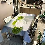 QWEASDZX Mantel Paño de poliéster Mantel de Hotel Mantel Rectangular Mantel Antimanchas Lavable Adecuado para manteles de Picnic para Interiores y Exteriores 140x200cm