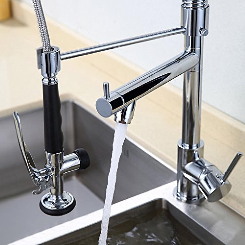 Klybfn&N Küchenarmatur Deck Montiert Einhand-Einlochmontage Dual Tüllen Für Mischbatterien