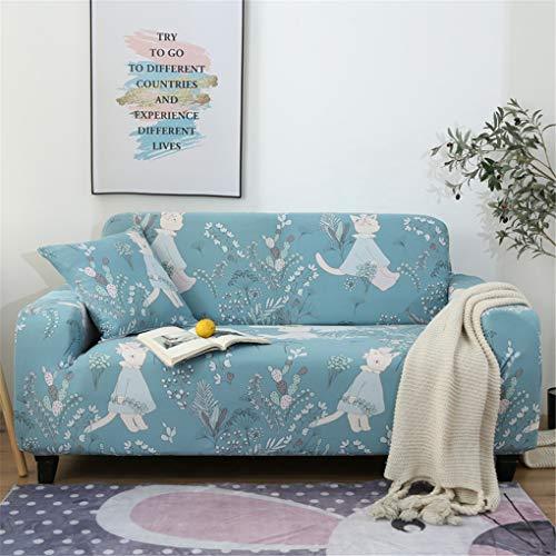 OMGPFR Funda Protectora de sofá, 1 2 3 4 plazas Combinación Completo Elasticidad Estera de cojín Agradable para la Piel Protectores de Silla Antideslizante para Sala Gris (190-230 CM),Azul,3 Seater
