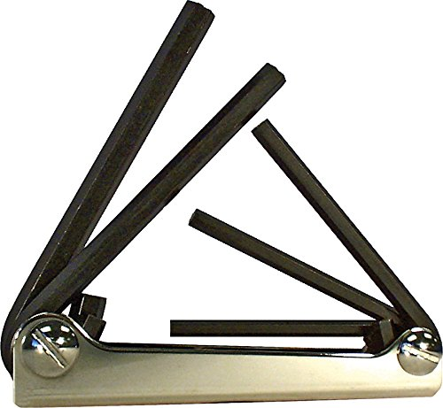 EKLIND 20511 Steel Handle Fold-up Hex Key allen wrench - 5pc set SAE Inch Sizes 3/16-3/8