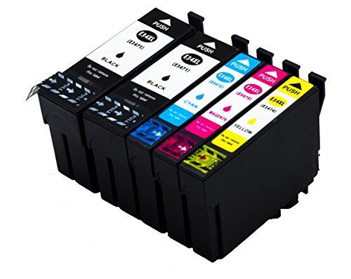NTT 5er XL-Set Tintenpatronen als Ersatz für Epson E34XL E34 3471-3474 3471 3472 3473 3474 T3471-T3474 Tintenpatronen für Epson Workforce Pro WF-3720DW WF-3720DWF WF-3725DW WF-3725DWF