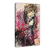 Poster sur toile Mick Jagger - Décoration murale pour salon, chambre à coucher - Cadre : 40 x 60 cm