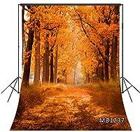 LB 写真撮影用 背景布 1.8×2.7m/6x9ft 秋の風景 自然風景 秋 バックペーパー 人物/商品撮影 背景シート 撮影スタジオ用 アイロンかけ可 折り畳み可 洗濯可能 新婚撮影