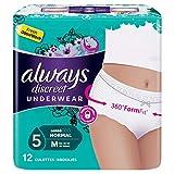 Always discreet - Culottes normal M para incontinencia, 12 unidades