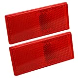 Blazer B178SRW Rectangular Stick-On Reflector, Red, 2 Pack...