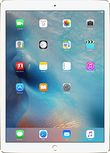 Apple iPad Pro (128GB, Wi-Fi + Cellular, Gold) 12.9in Tablet (Renewed)