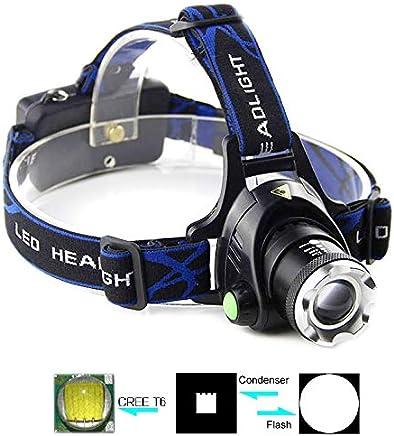 KANEED Scheinwerfer, Einstellbarer Fokus Zoomable LED Flashlight Scheinwerfer, 1 x Cree XM-L T6 LED, 3-Modus, wasserdicht B07PX17SZX     | Günstige Preise