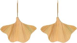 Vintage Ginkgo Leaf Dangle Earrings Women Geometric Leaves Earrings Fashion Jewelry