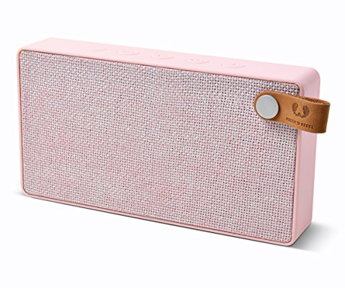 Fresh 'N Rebel Speaker Bluetooth Rockbox Slice Fabriq Edition, Altoparlante Tascabile 6W, Extra Bass, Vivavoce, Rosa Cupcake
