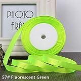 ASDAF 25yards / Roll Grosgrain Cintas del satén para Las Bandas de Boda de la decoración de Navidad Arco de 6 mm a 40 mm Regalo del Arte de DIY,Verde Claro,6 mm