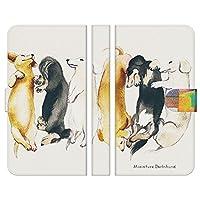 ブレインズ Xperia X compact SO-02J 手帳型 ケース カバー ミニチュアダックス NoA 犬 dog アニマル ウェルシュ カーディガン ペンブローク かわいい