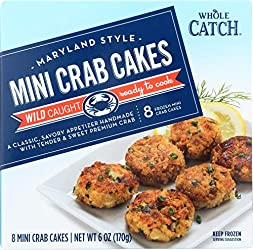 Whole Catch, Maryland Style Mini Crab Cakes, 8ct, (Frozen)